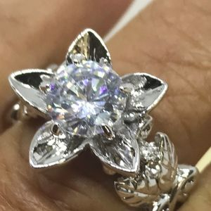 Jewelry - 2CT AAA CZ Vintage-look Baroque Flower Ring